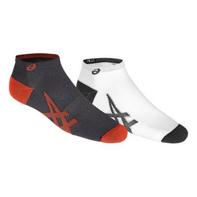 Asics 2 Pack Lightweight Running Sport Training Socks Grey/White - UK 3-5