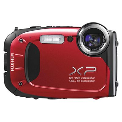 Fujifilm XP60 Tough Digital Camera, Red, 16MP, 5x Optical Zoom, 2.7 inch LCD Screen
