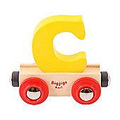 Bigjigs Rail Rail Name Letter C (Yellow)