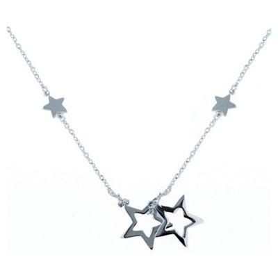 Sterling Silver Star Drop Pendant