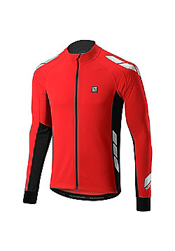 Altura Night Vision Commuter Long Sleeve Cycling Jersey Hi Vis - Red & Black