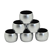 Round Napkin Rings in Silver - Pack Of 6