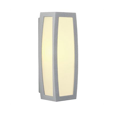 Meridian Box Outdoor Light Silvergrey Max. 25W Wall Light