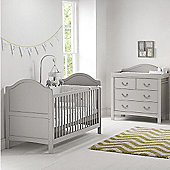 East Coast Toulouse 2 Piece + Sprung Mattress Nursery Room Set - Grey