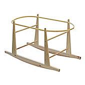 Shnuggle Rocking Moses Basket Pine Stand