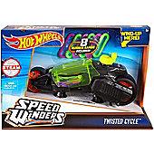 Hot Wheels Speed Winders Twisted Cycle Vehicle Black & Green DPB67