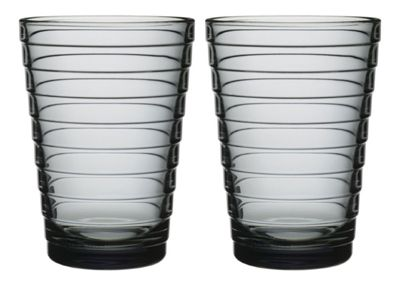 Iittala Aino Aalto Set of 2 Glass Tumblers in Grey 33cl 1008563