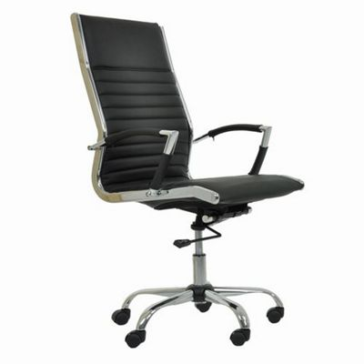 Spark Faux Leather Office Chair Black