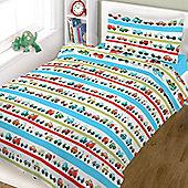 Cot Bed Duvet Cover Set 100% Cotton- Vehicles