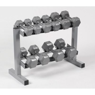 Body Power Hex Dumbbells & Rack - 5,7,10,12.5 & 15Kg