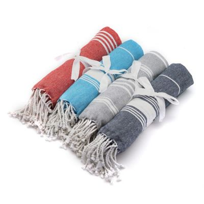 Turkish Beach / Bath / Yoga / Hammam, Peshtemal Towel 100% Cotton - x4 Colours