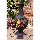 Opera cast iron chimenea with mesh central part, large