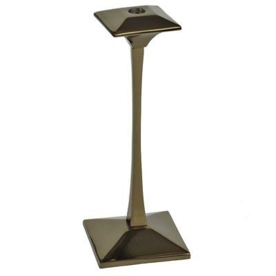 Gunmetal Gold Aluminium Candlestick Large