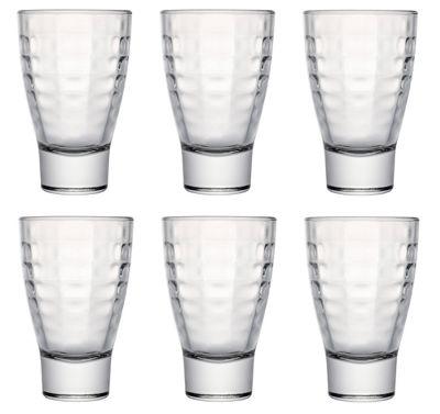 Tavola Luxe Glassware BRICKS Design Glass Tumbler Set of 6 37cl