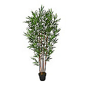 Homescapes Green 5ft Bamboo Tree Artificial Plant with Pot, 155 cm