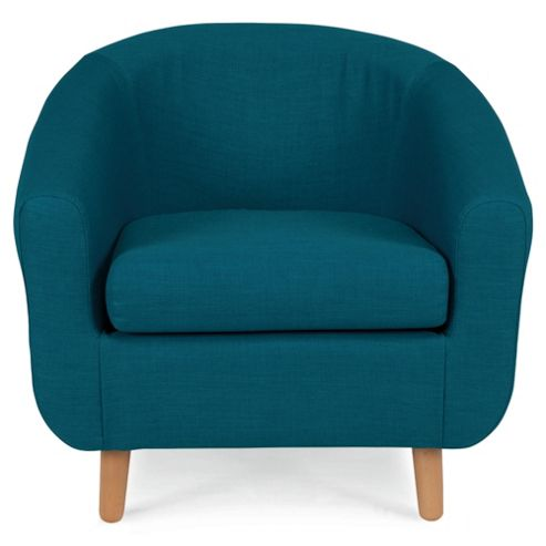 Retro Fabric Tub Chair Teal