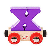 Bigjigs Rail Rail Name Letter X (Purple)