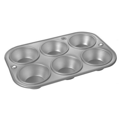 Alan Silverwood Silver Anodised Muffin Tray, 6 Cup