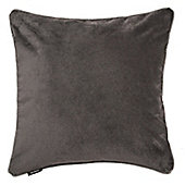 McAlister Charcoal Grey Matt Velvet Cushion Cover - 43x43cm