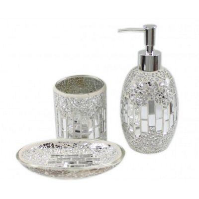 Buy Sparkle Mosaic Bathroom Set Soap Dish Dispenser
