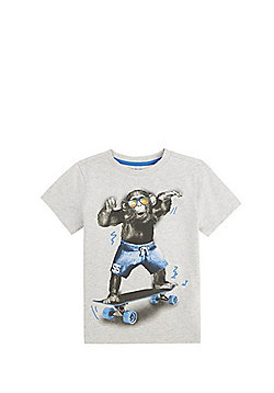 F&F Skate Monkey T-Shirt - Grey