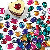 Crafts Large Self Adhesive Acrylic Gems (120 Pcs)