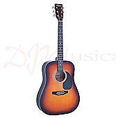 Falcon Sunburst Acoustic Guitar