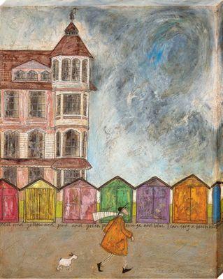 Sam Toft I Can Sing A Beach Hut Canvas Print 40 x 50cm