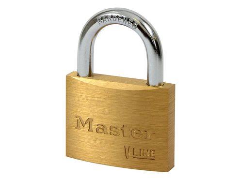 Master Lock V Line Brass 50mm Padlock