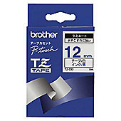 Brother TZ-233 Blue on White 12mm Laminated Labelling Tape (8m) for P-Touch