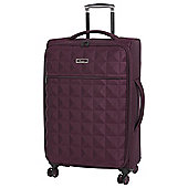 IT Luggage Megalite Quilted 8-Wheel Chocolate Truffle Medium Suitcase