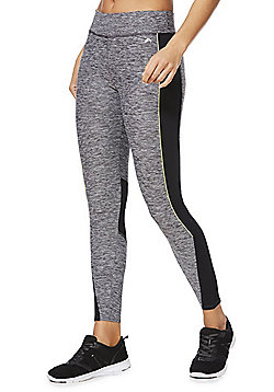 F&F Active Piped Colour Block Leggings - Grey