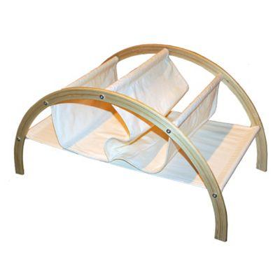 BRIDGE - Solid Wood + Canvas Multifunction Storage Rack - Birch