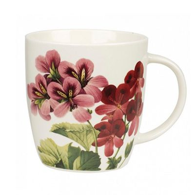 Churchill RHS Redoute Geranium Design Mug, Fine China, Microwave Safe, 390ml