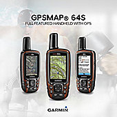 Garmin GPSMAP 64S│Handheld Navigation+GLONASS│Barometric Altimeter│Worldwide map+ 1-year BirdsEye Satellite Imagery