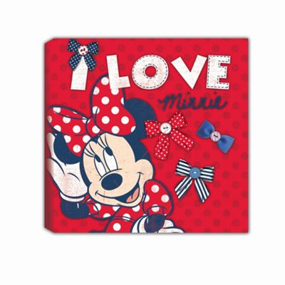 Disney Minnie Mouse Red Printed Canvas Wall Art