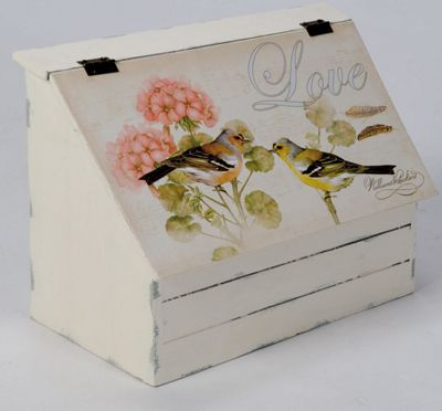 Bird and Love Flap Lid Storage