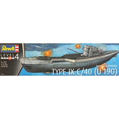 REVELL 05133 German Submarine Type IX C/40 1:72 Ship Model Kit