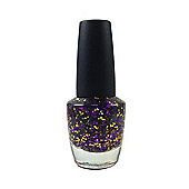 Pretty Glitter Pop Nail Polish-Purple & Gold