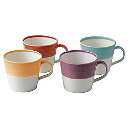 Set of 4 Royal Doulton 1815 Brights Mugs