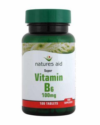 Natures Aid Vitamin B6 100mg - 100 Tabs