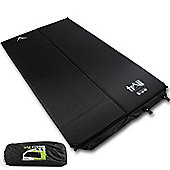 Trail 2.5cm Double Self-Inflating Camping Mat - Black