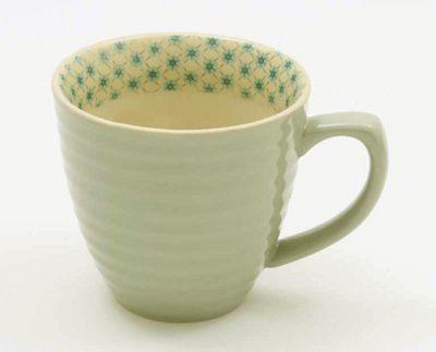 ECP Designs Single Paisley Single Mug, Mint Green