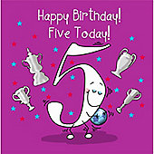 Happy Birthday, Five Today Boys Greetings Card