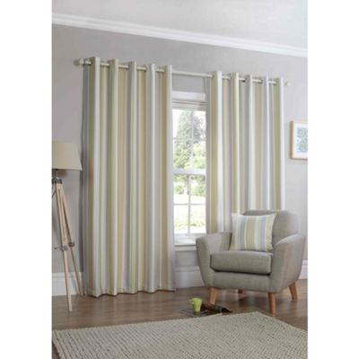 Falcao Green Eyelet Curtains - 46x54 Inches (117x137cm)