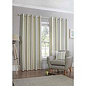 Falcao Lined Eyelet Curtains - Green