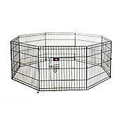 Hq Pet Metal Indoor Foldable Dog Playpen Puppy Guinea Pig Exercise Fences S