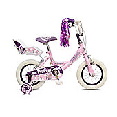 "Concept Princess 16"" Wheel Kids Bike Single Speed Stabilisers Pink"