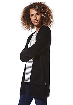 F&F Knitted Open Front Cardigan - Black