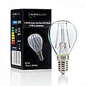 Auraglow 4w G45 Golf Ball Filament LED Vintage Light Bulb - E14 - WARM WHITE
